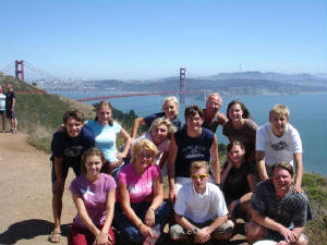 Our group near the Golden gate,Ca.jpg